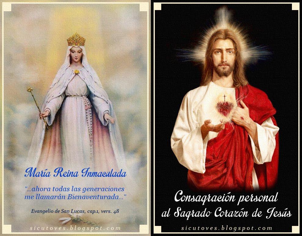 CONSAGRACIÓN PERSONAL AL SAGRADO CORAZÓN DE JESÚS (en díptico para imprimir)