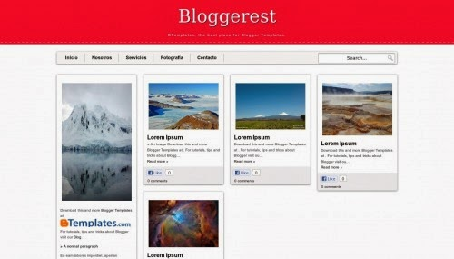 bloggerest red blogger templates 2014 for blogger or blogspot