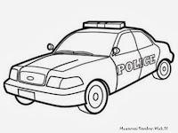 Buku Mewarnai Gambar Mobil Polisi Gratis