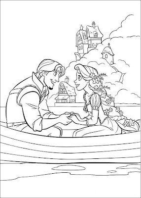 Tangled Coloring Pages Free