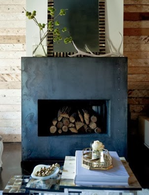antlers fireplace vignette