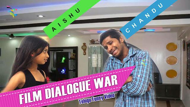 latest comedy video 2016, funnyvideo telugu, Dialouge War Aishu Vs Chandu - Aish Creations
