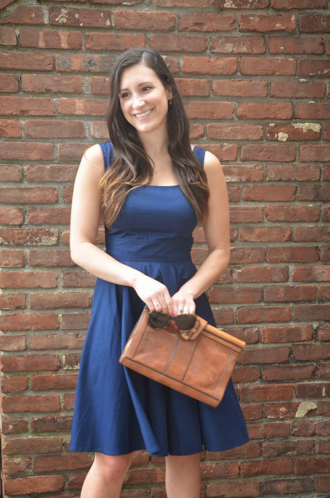 in navy | eshakti valerie dress