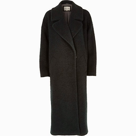 dark green long length coat