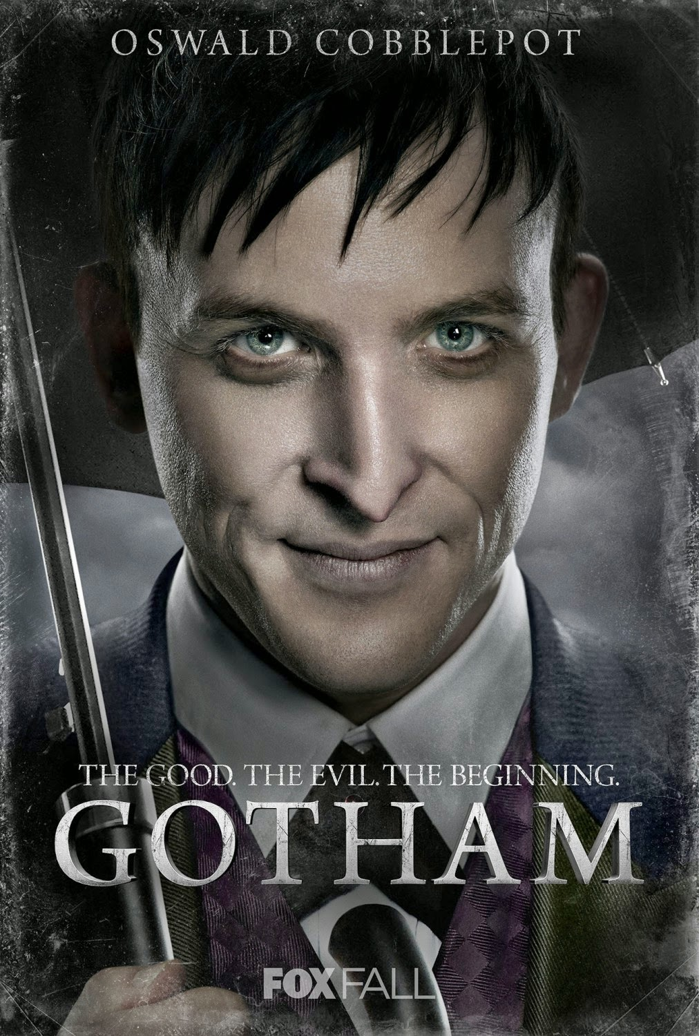 "Gotham ""The Good. The Evil. The Beginning."" Character TV Poster Set - Robin Lord Taylor as Oswald Cobblepot-The Penguin"