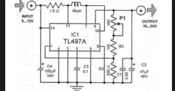 wiring schematic diagram  tl497a simple voltage converter circuit