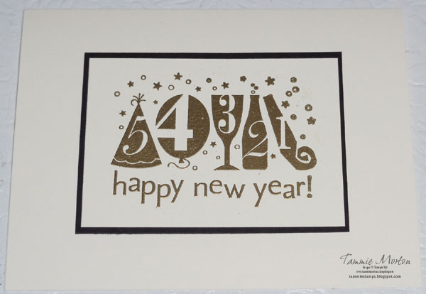 i wanted to send out some happy new year cards so i used one of the single stamps you can buy from stampinup i love this stamp