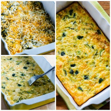 Zucchini and Green Chile Breakfast Casserole found on KalynsKitchen ...