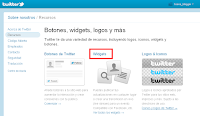 Widgets de los recursos de Twitter