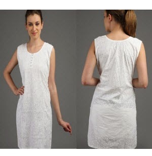 Tunic White Kurti at Rs. 95
