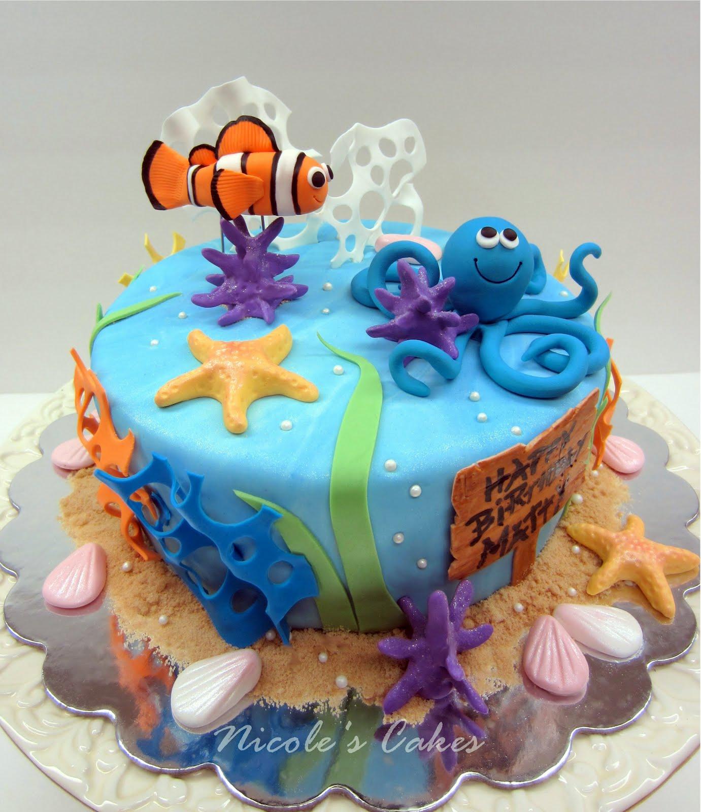 On birthday cakes under the sea birthday cake