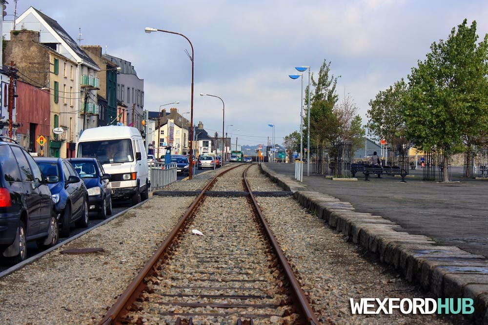 The railway line in Wexford