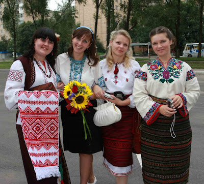 Girls at Ukrainian wedding