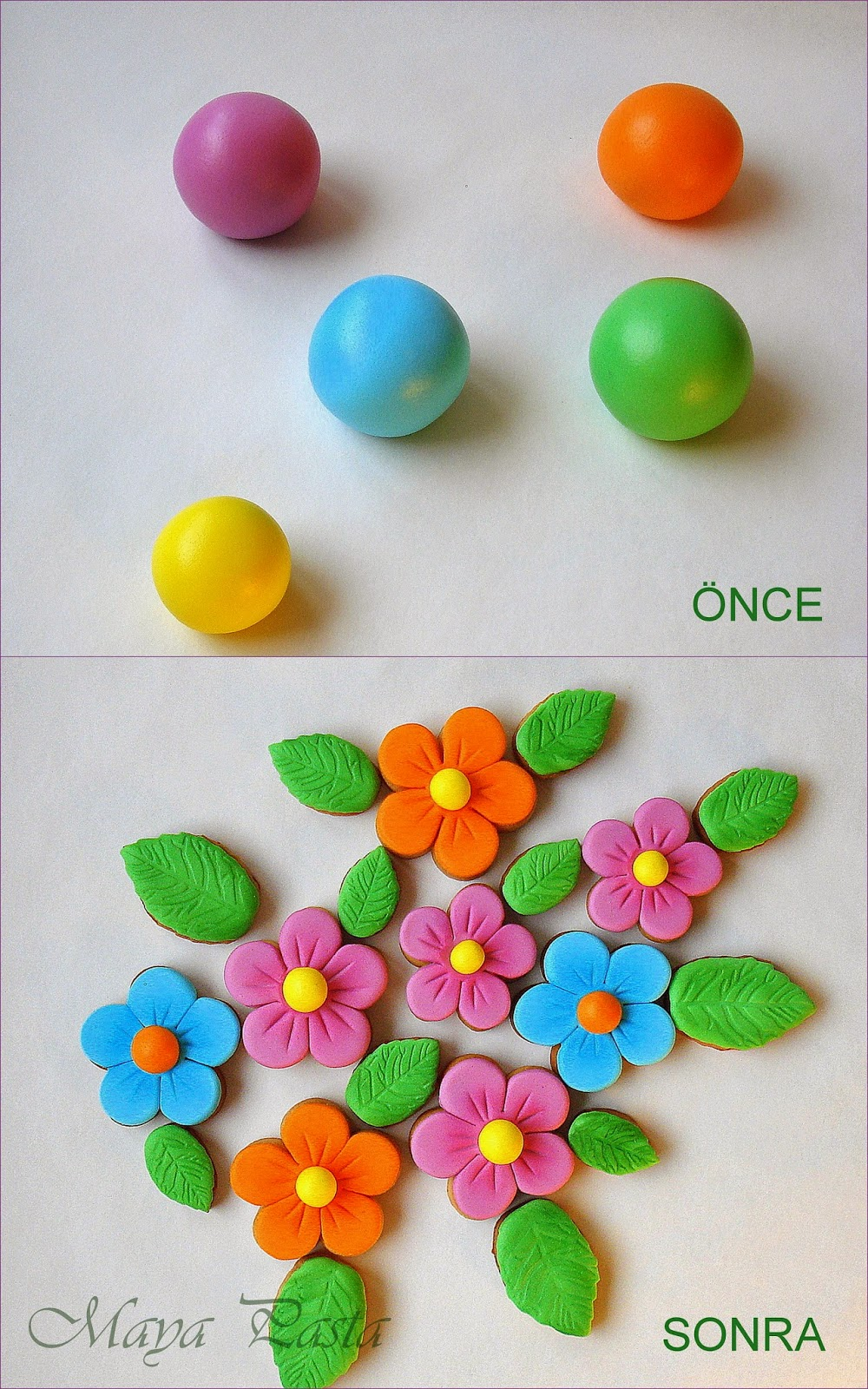 Cookie flowers