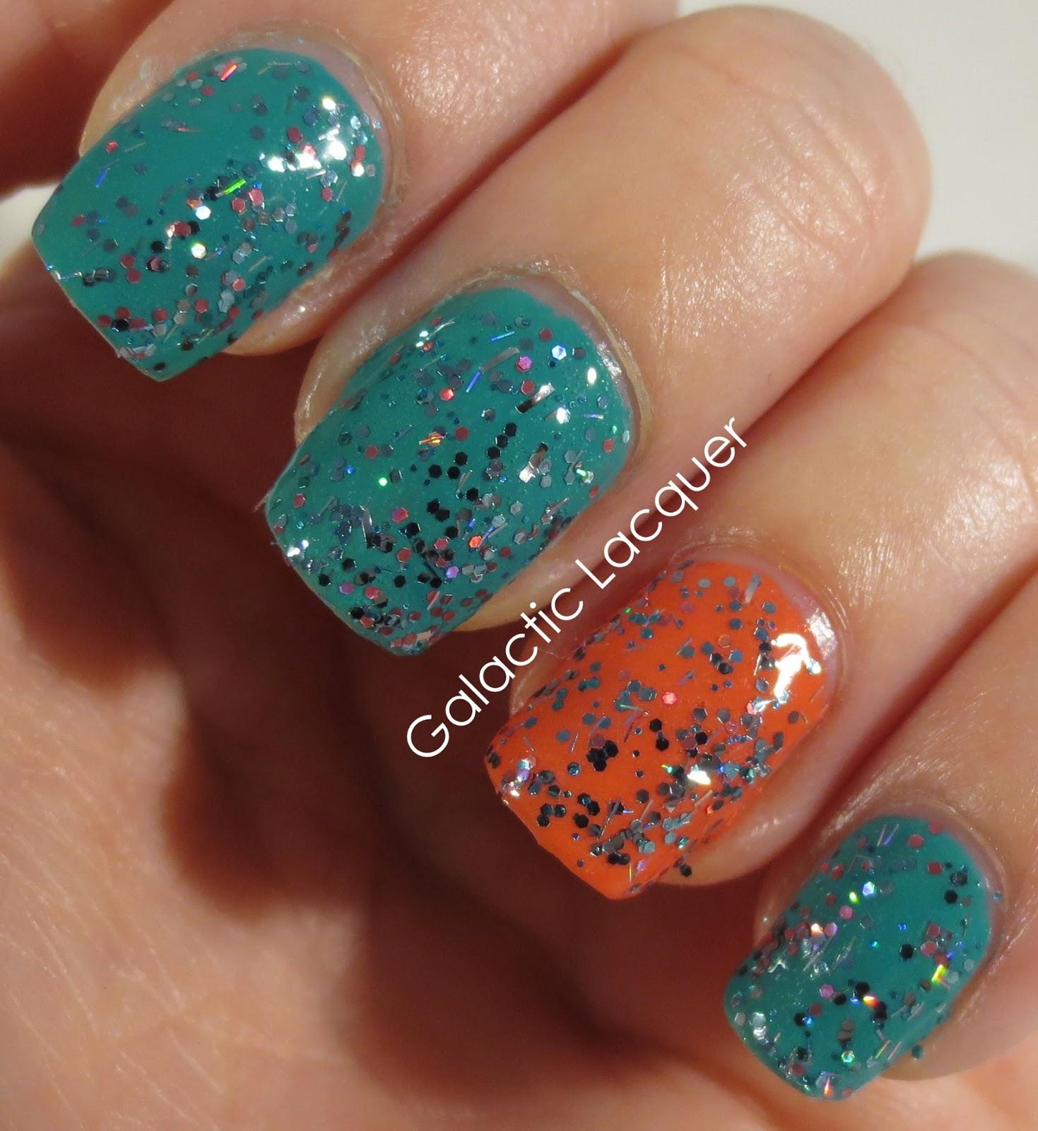 Little Mermaid Nails: Galactic Lacquer: I Love Nail Polish