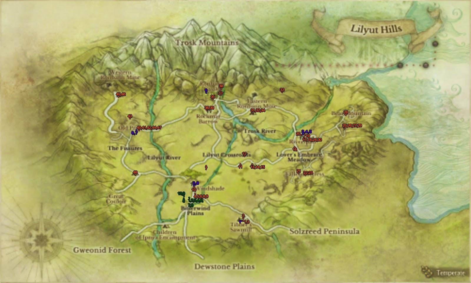 Fuji S Gameshop Archeage Quests Lilyut Hills Lv11 Lv15