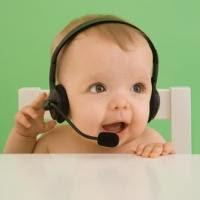 bayi dengar musik