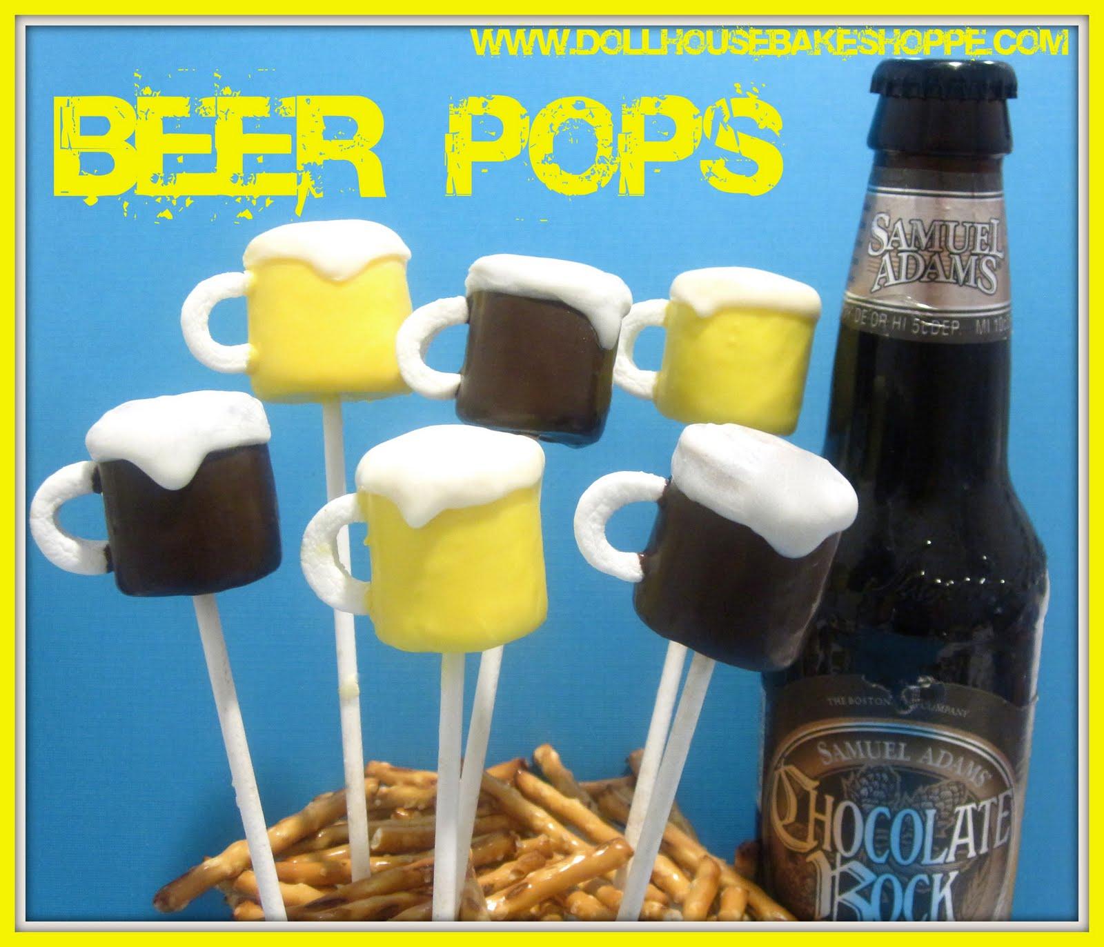 Lindsay Ann Bakes: Beer Mug Marshmallow Pops