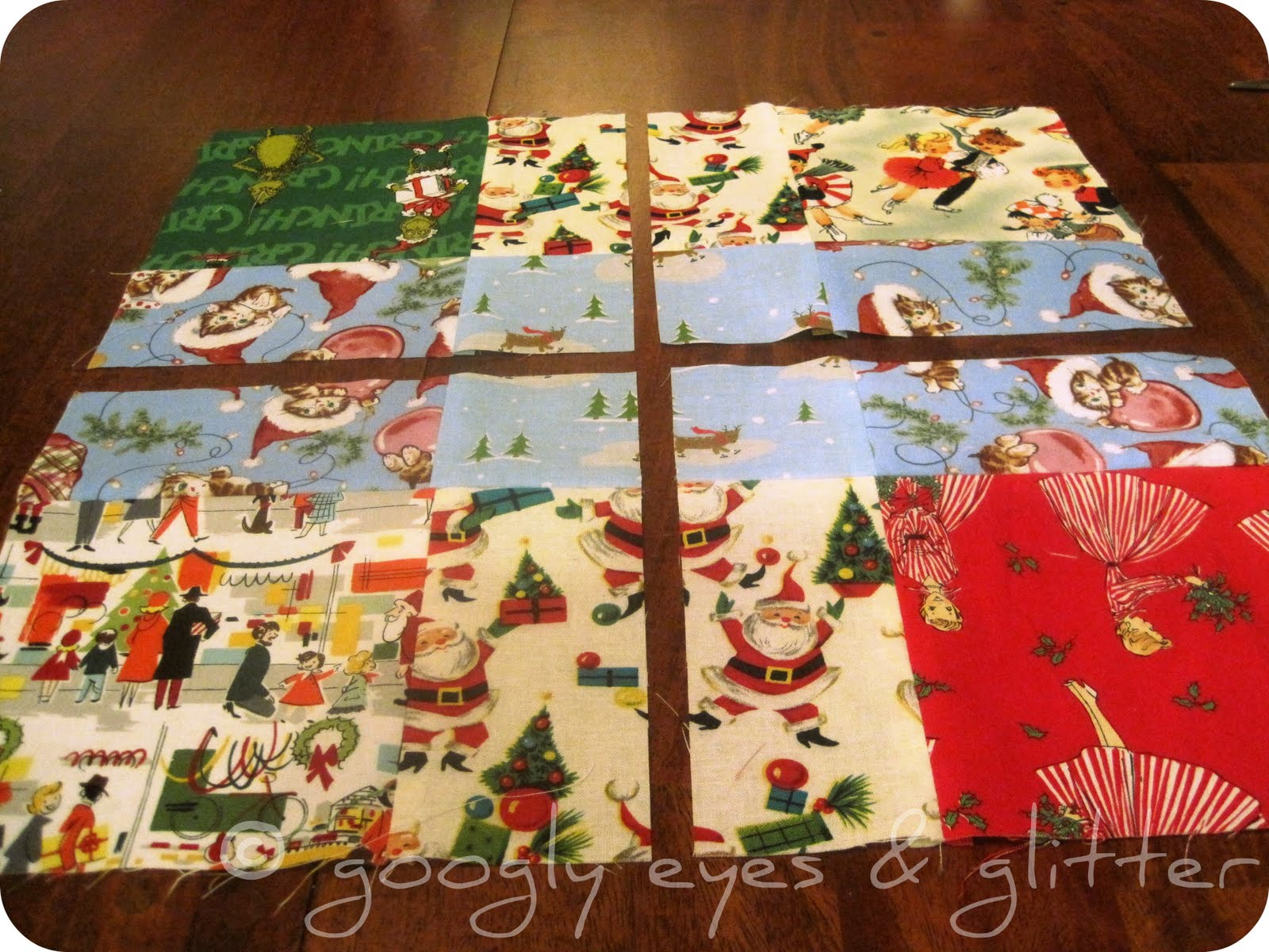 Pumpkin Patch Quilter: Tossed Nine Patch and a WIP