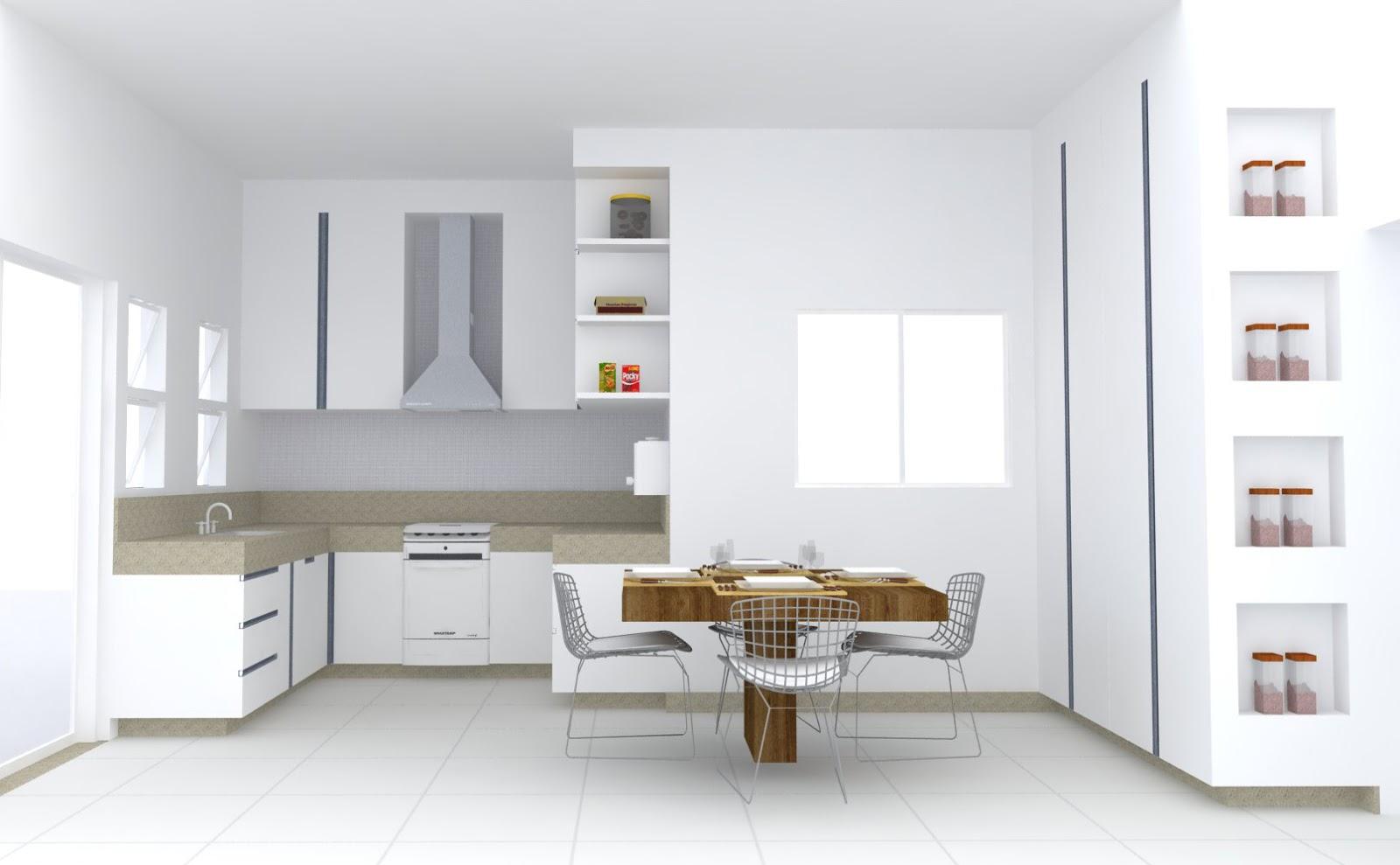 Decoração Paisagismo: Projeto de Interior  Cozinha e área de Lazer #664828 1600 989