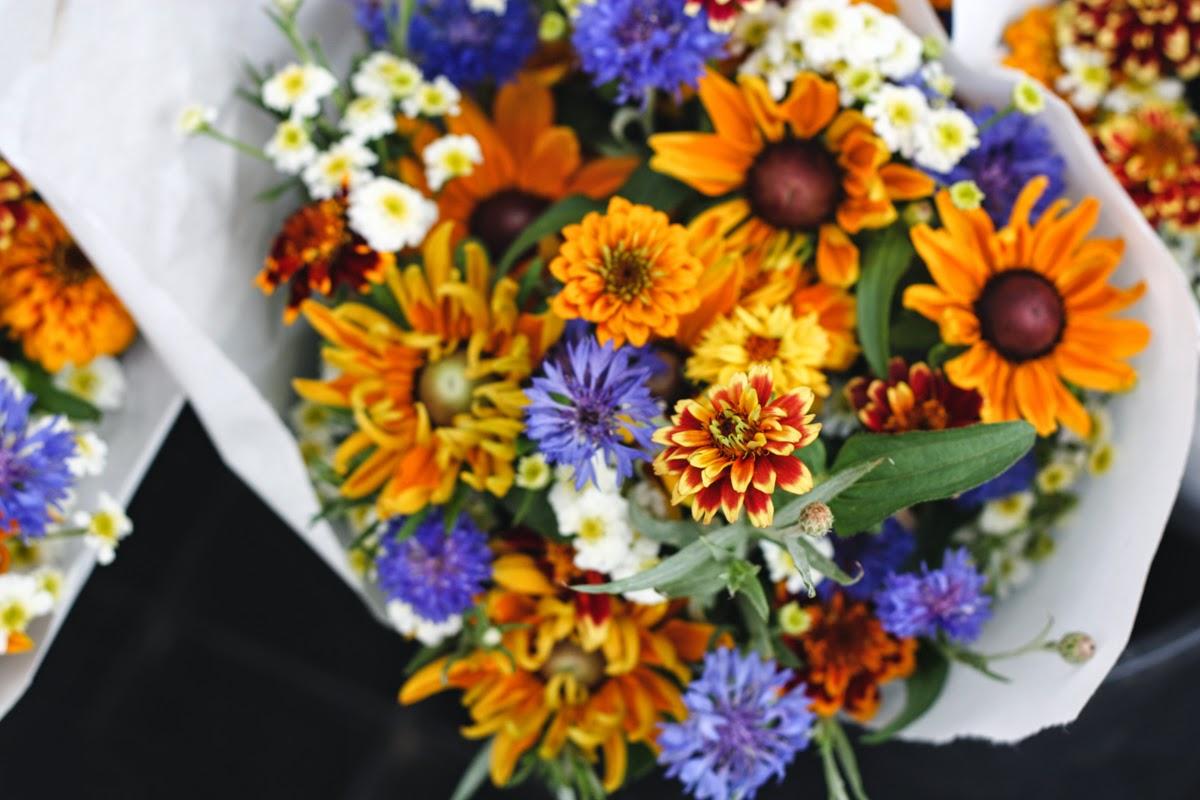 union square greenmarket river garden bouquet flowers