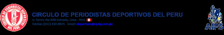 NUEVA WEB - Circulo de Periodistas Deportivos Del Perú