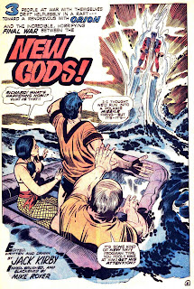New Gods v1 #6 dc bronze age comic book page art by Jack Kirby