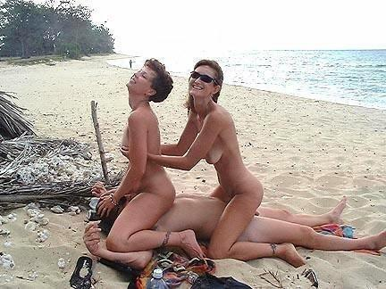 sharing wife with another man in beach