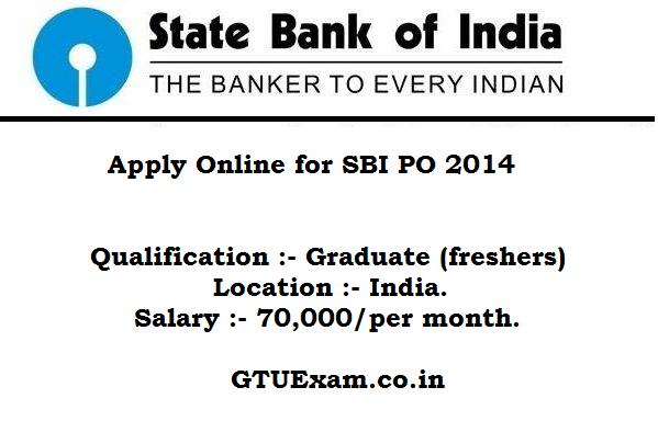 [Apply Online] SBI PO 2014 - 1837 Vacancy