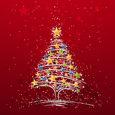 Colorful Christmas tree download free wallpapers for Apple iPad