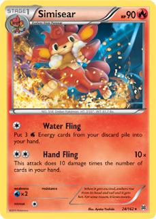 Simisear BREAKthrough Pokemon Card