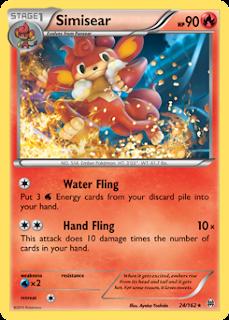 Simisear BREAKthrough Pokemon Card