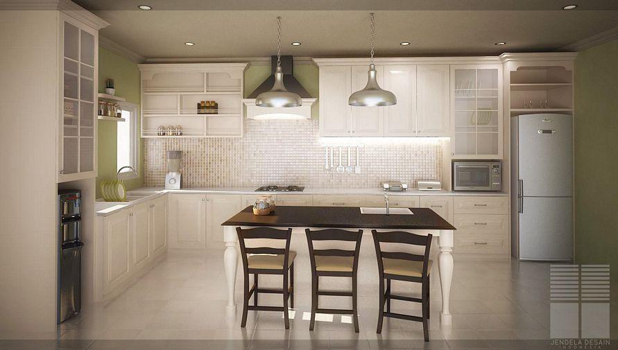 ide desain dapur rumah modern unik