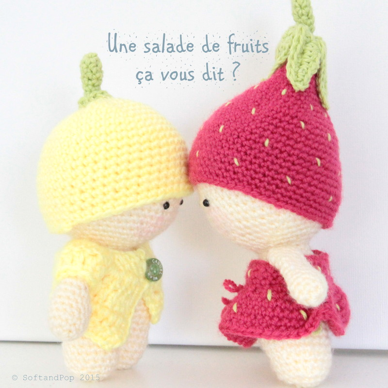 Amigurumis Les Minis Citron et Fraise