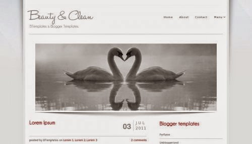 Beauty & Clean - Free Blogger Template