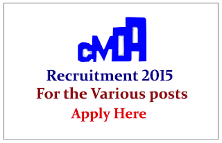 Chennai Metropolitan Development Authority Recruitment 2015 for various post