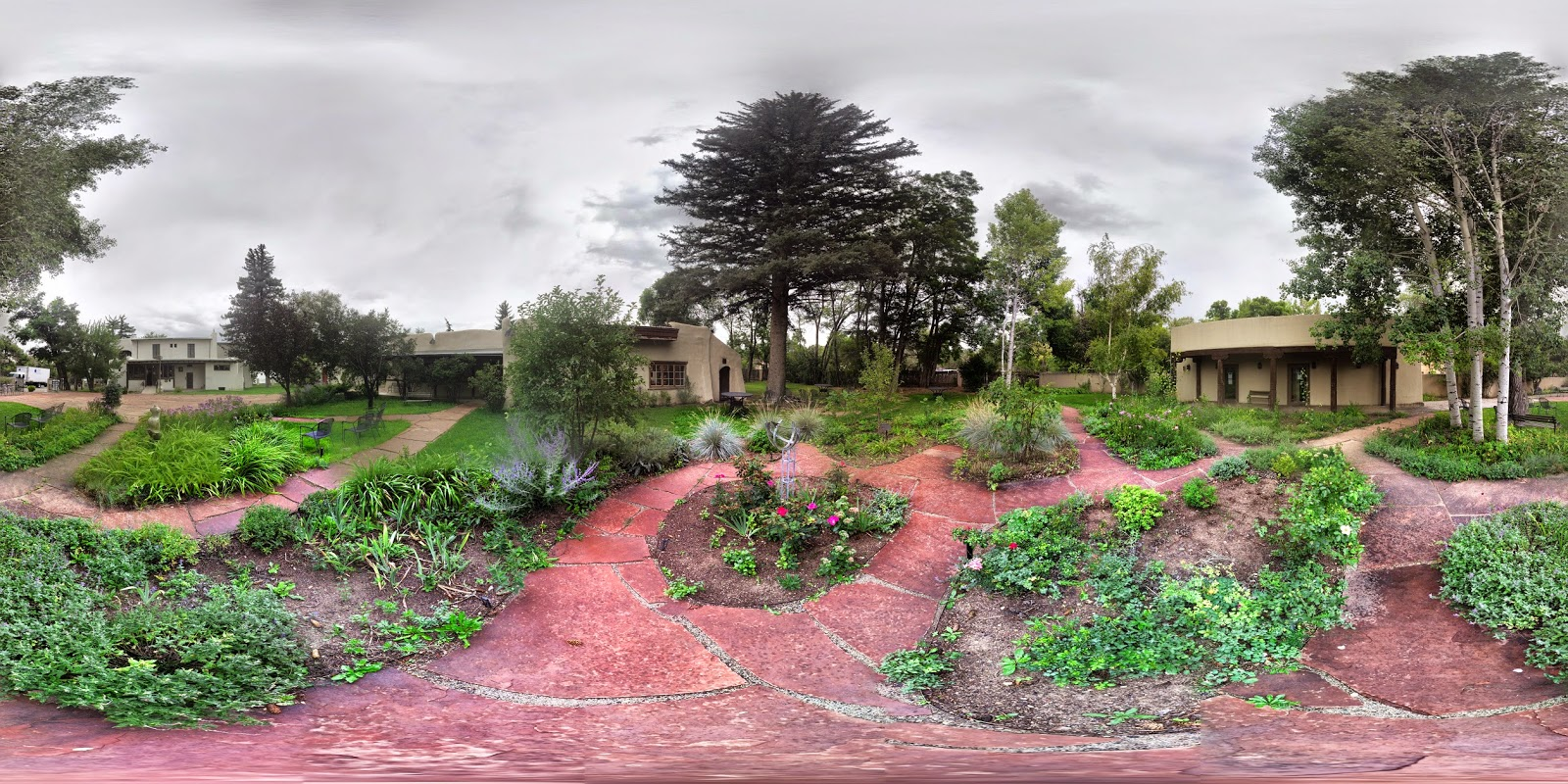The Garden of The Fechin House in 360