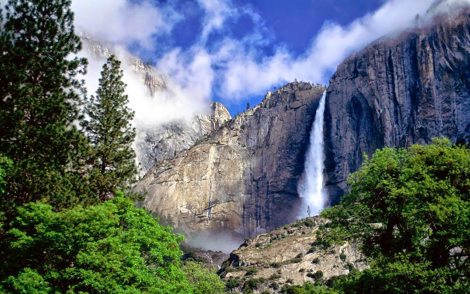 Free Yosemite Wallpaper Yosemite Hikes - nevada fall yosemite national park wallpapers