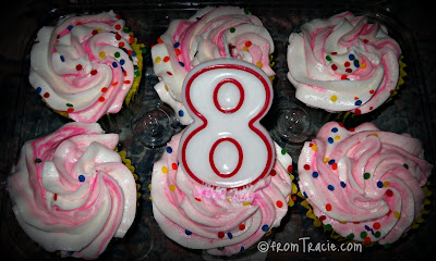 Cupcakes With An 8 Candle