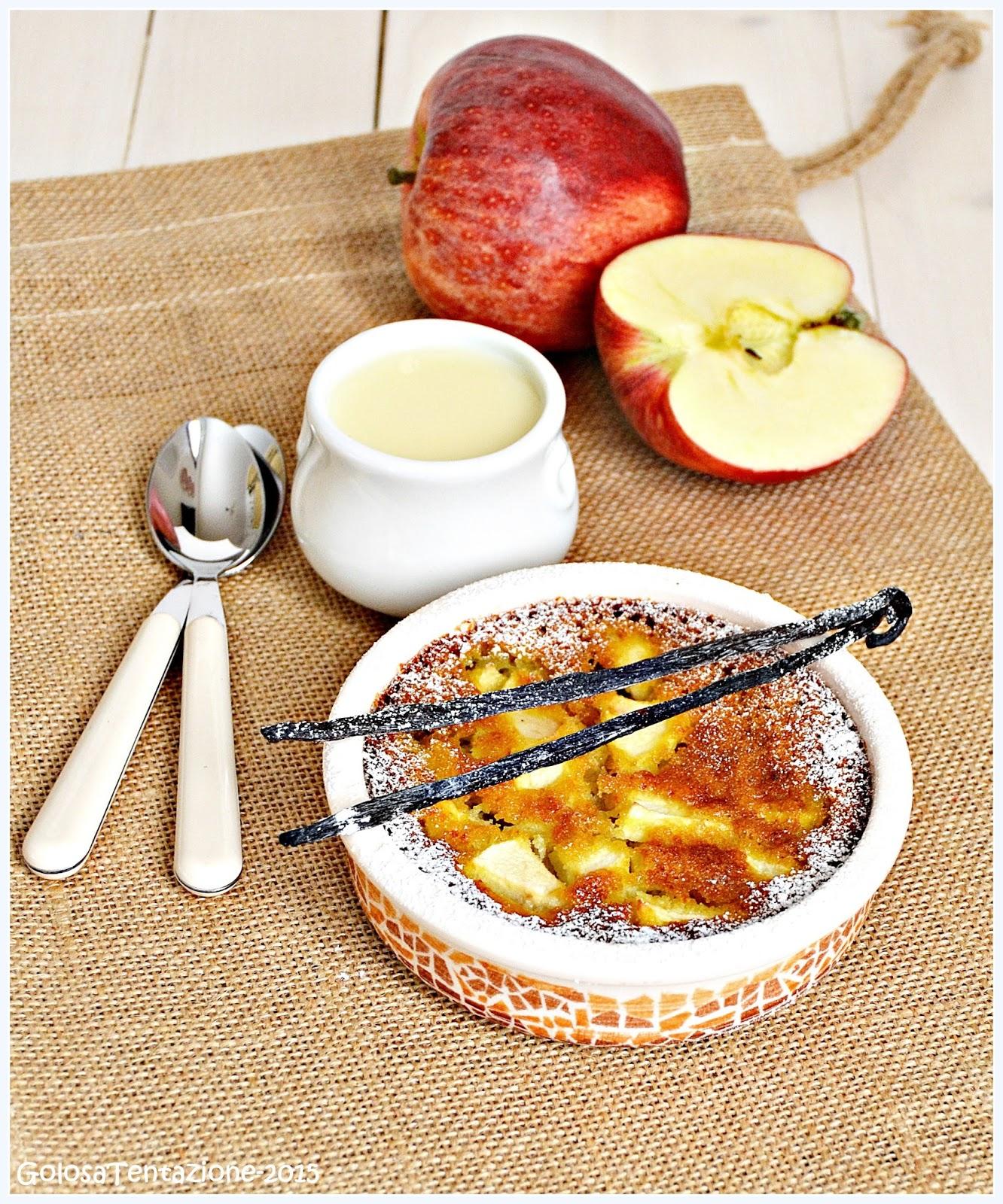 tortini di mele con crema inglese alla vaniglia