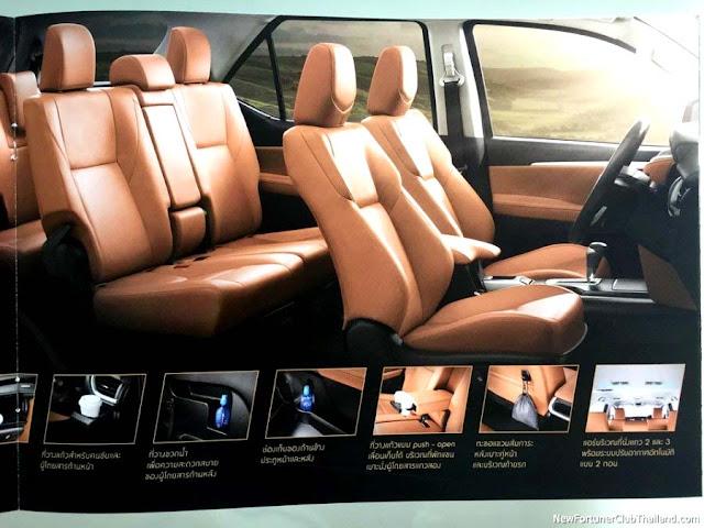 Interior Toyota Fortuner 2016 metalic back