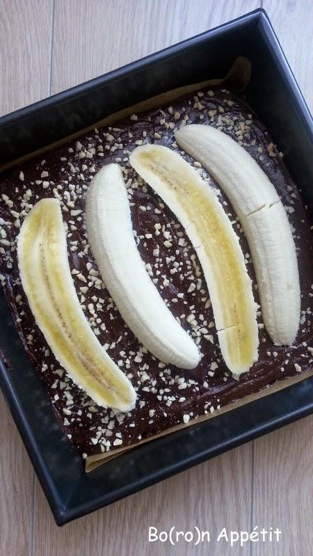 Brownie czekoladowe z bananami