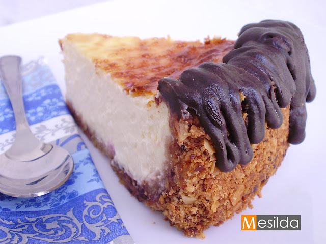 La cocina de Mesilda: TARTA DE QUESO FLORENTINA CON VAINILLA