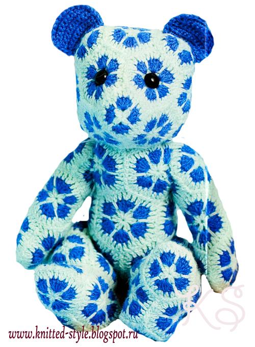 вязаные игрушки, вязаные медвежата, мишки
