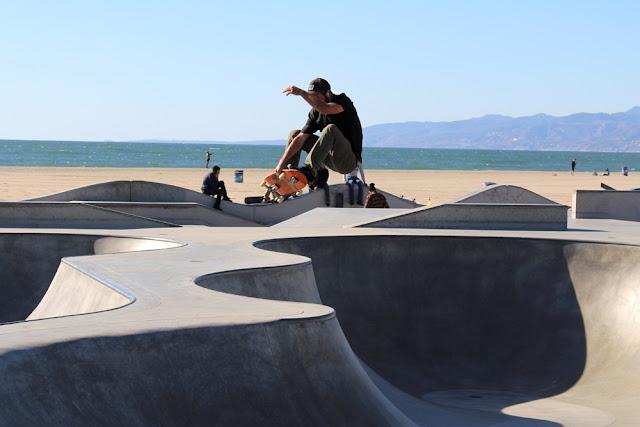 Venice Beach skateboarder - weekend in Los Angeles, travel blog