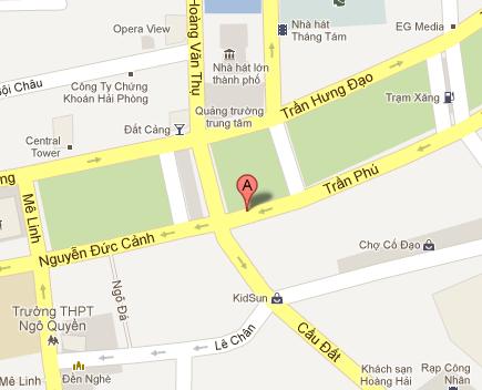 Bản đồ Chỉ đường Sony Center Hải Phòng