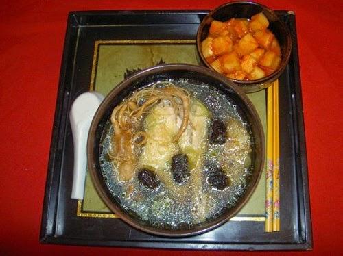 Stewed Sweet Herbal Chicken Soup (Gà Hầm Thuốc Bắc)