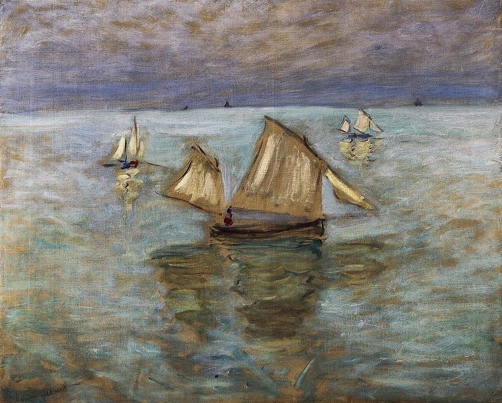 Barques de pêche à Pourville (1882)