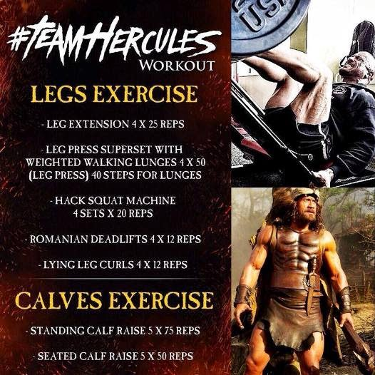 Dwayne Johnson Hercules Legs Workout routine