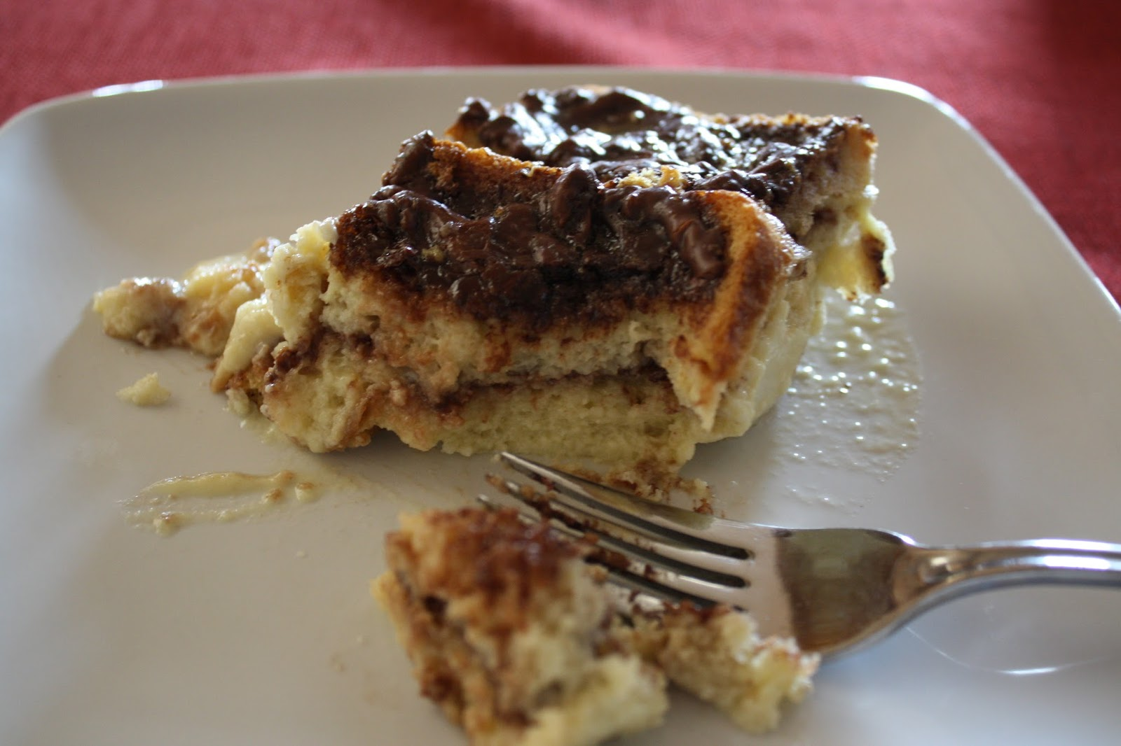 Lactose-Free Girl: Nutella Bread Pudding